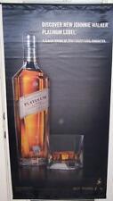 JOHNNIE WALKER PLATINUM LABEL Big Satin Advertising Banner Scotch Whisky Sign