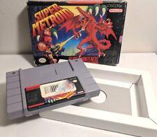 Super Metroid - Super Nintendo SNES - cart with box RARE *Authentic*