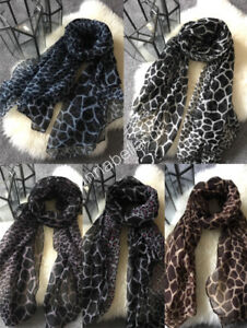 Ladies Women Fashion Animal Print Leopard Print Scarf Scarves Brand New More Col
