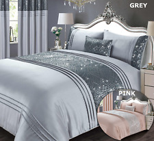 Grey Or Pink Duvet Cover Set Sequin Bedding Set Bedlinen Pleated Sparkle Glitter