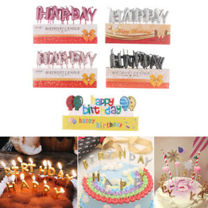 Rose Gold Sliver Red Happy Birthday Letter Lovely Cake Party Festival SupplAURI