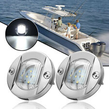 2x 12v 21led Marine Yacht Boat Led Underwater Light Fishing Boat Marine Kit Trim Tab Light Kit Transom Stern Bar Blue Waterproof High Safety Boat Parts & Accessories