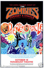 The ZOMBIES Odessey & Oracle Paramount - Denver 11x17 Concert Poster / Gig Flyer