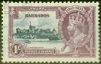 Barbades 1935 1s Ardoise & Violet SG244L Milan Royal & Horiz Log Superbe Utilisé