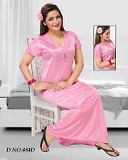 Light Pink Sleepwear 1pc Nightie Daily Maxi 484D Babydoll Slip Satin Gown Bed