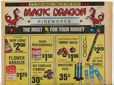 "1989 Vintage Sales Sheet: ""MAGIC DRAGON FIREWORKS"""