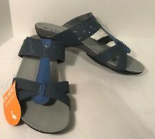 Sporto Blue India Ink Slip on Rain Sandals ladies size 8.5 M New