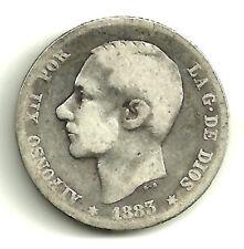 ALFONSO XII. 1 PESETA DE 1883*(-----) MADRID MS-M (RC) PLATA