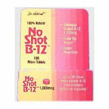 No-Shot B-12 Homeopathic Sublingual 100 Tabs 1000 MCG