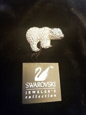 Swarovski Crystal Polar Bear Brooch. Retired and Signed .