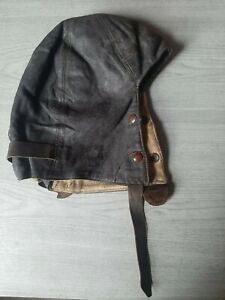 Genuine Reliance Of London 1941 Vintage Leather Motorcycle Skull Cap.