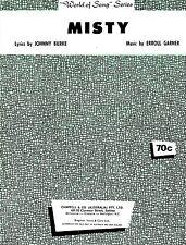 Sheet Musiic: MISTY (Johnny Mathis) VGC
