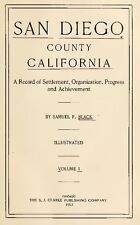 1913 SAN DIEGO County California CA, History and Genealogy Ancestry DVD V95