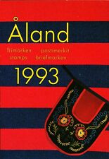 Aland Finland 1993 Year set complete including S/S in official folder. MNH