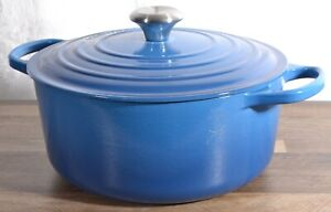 Le Creuset 5.5qt Signature Round Dutch Oven Marseille Enameled Cast Iron 10.25in
