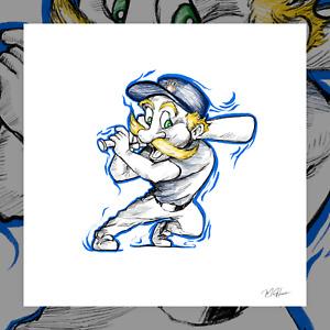 Bernie Brewer Milwaukee Brewers Baseball Mascot Print Poster Art