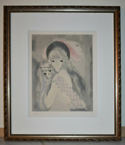 Listed French Artist Marie Laurencin Original Signed Color Etching & Aquatint