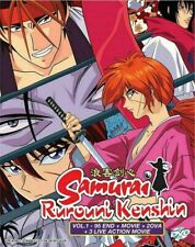 Rurouni Kenshin Vol. 1-95 Complete + Movie + 2 OVA + 3 Live Action Movies DVD