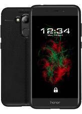 Custodia Similpelle Nero per Huawei Honor 6c Pro Custodia Protettiva Cover Case Borsa