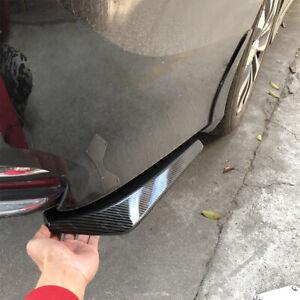 1Pair Carbon Fiber Black Car Rear Bumper Lip Diffuser Splitter Canard Protector