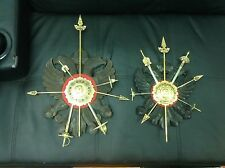Vintage Toledo Spain wall plaques with mini swords