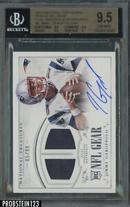 2014 National Treasures NFL Gear Jimmy Garappolo RC Jersey AUTO /99 BGS 9.5