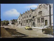 ASHBOURNE Old Grammar School & Standard 8 or 10? Motor Car with L Plates c1950s