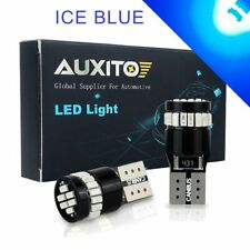 2x AUXITO T10 Wedge 12V 194 168 W5W 2825 ICE BLUE LED Light Bulbs CANBUS Bright