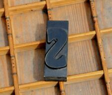 art nouveau letter: s rare wood type letterpress printing block woodtype font