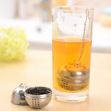 Vintage Silver Tea Maker Ball Infuser Mesh Strainer Stainless Steel with Chain