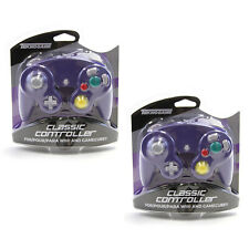 New GameCube - INDIGO PURPLE Rumble Controller X2 Teknogame (Wii Wired Gamepad)