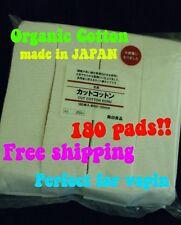 INSTOCK(180)pads Japanese Organic Cotton Vape 100% Unbleached wicking wick Vape