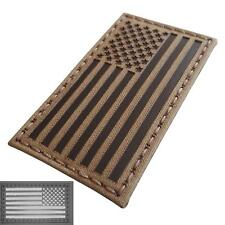 USA american reversed flag infrared IR coyote brown tan IFF laser hook patch