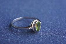 Peridot Mini Ring Gemstone Fine Handmade Sterling Silver Multiple Sizes