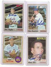 1968-Topps auto-Signed ron Taylor set Card #421 Ny new york Mets baseball Team
