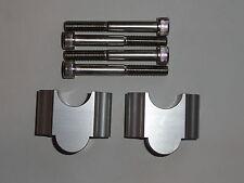 "HDM Handlebar Riser Kit 1 1/8"" Bars 30mm Motorcycle ATV Dirt Bike Aluminum grip"