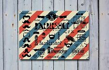 Salon de coiffure signal métallique décoration Signe murale plaques 652