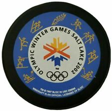 2002 LINDSAY OLYMPIC WINTER GAMES SALT LAKE ICE HOCKEY PUCK