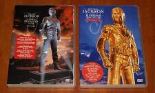 MICHAEL JACKSON 2x DVD Lot HISTORY ON FILM VOL 1 & 2 GREATEST VIDEO HITS / PAL