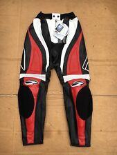 "RICHA Ladies Race Leather Motorcycle / Motorbike Trousers UK 10 (28"" waist) #LB5"
