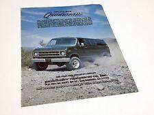 1975 Ford Econoline Pathinder Quadravan Information Sheet Brochure