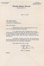 JOHN KENNEDY JFK SIGNED 1954 LETTER PSA/DNA CERTIFIED AUTHENTIC AUTOGRAPHED RARE