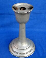 Extremely rare French pewter Revolutionary clandestine chalice lamp circa 1794