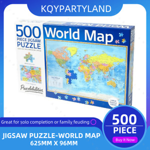 500PCS Jigsaw Puzzle World Map Adults Kids Activity Toys Games Home Decor Gift