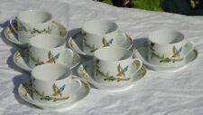 Service de 6 tasses à thé en porcelaine de Limoges.