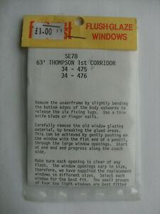 South Eastern Models Flushglaze SE-78 63' Thompson Model Railway Window Set