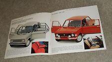 Fiat 128 Saloon Brochure - 1100 2 & 4 Door Estate 1300 Special Rally 1973