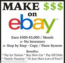 * Make Money w/your Own eBay Amazon Copy-&-Paste Dropshipping Online Business *