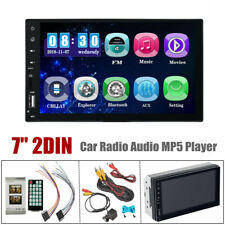 "7"" 2 DIN Bluetooth USB AUX Universal Car Radio Video Stereo MP5 Player w/ Remote"