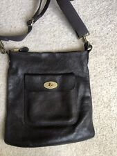 GENUINE MULBERRY Seth Leather Chocolate Brown Messenger Bag - RRP £725